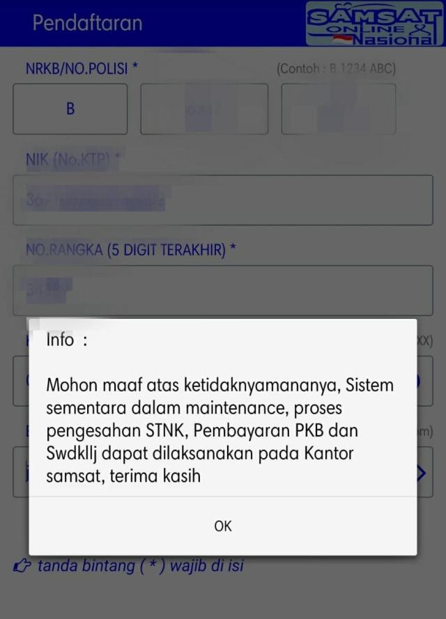 Aplikasi Bayar STNK Online Jakarta Ngadat Sejak September 2020 (333)