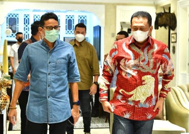 Bertemu Sandiaga, Ketua MPR Ajak Kemenparekraf Kembangkan Wisata Sport Otomotif (134363)