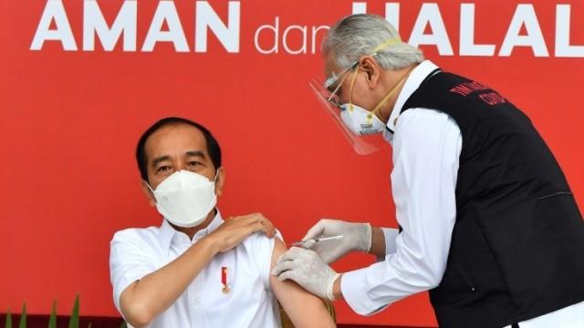Presiden Jokowi Resmi Menerima Vaksin Sinovac