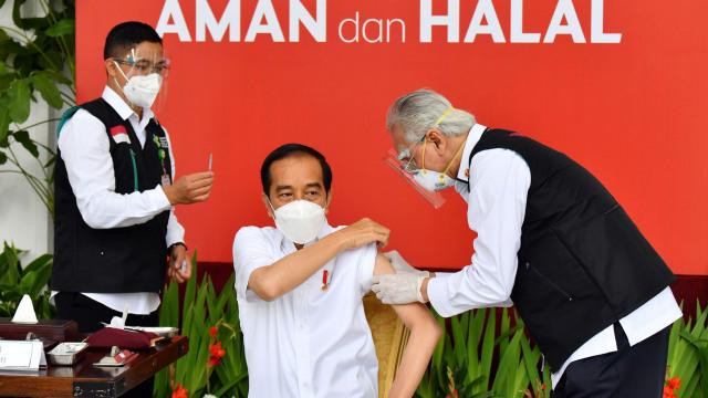 Fakta-fakta Jokowi Disuntik Vaksin dan Vaksinasi Corona Perdana di Indonesia  (121158)