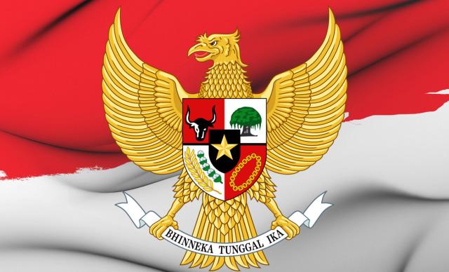 Bendera Merah Putih dan Lambang Negara yang Termaktub dalam UUD 1945 (3254)