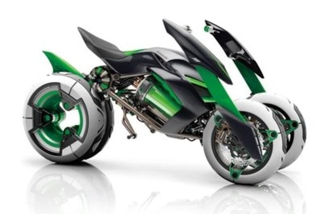 Kawasaki Siapkan Motor Tiga Roda, Lebih Oke dari Piaggio MP3 dan Yamaha Tricity? (5600)
