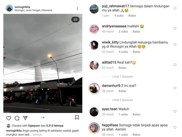 Video Puting Beliung di Waduk Gajah Mungkur Wonogiri Viral di Medsos (1005)