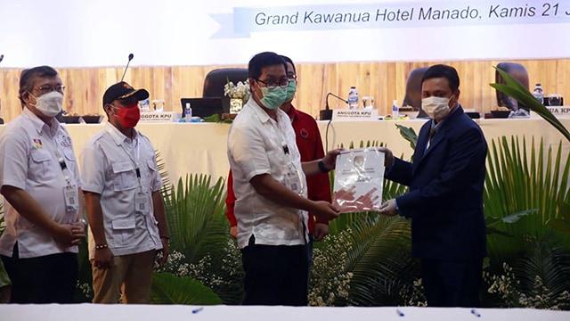KPU Resmi Tetapkan Olly Dondokambey-Steven Kandouw Pemenang Pilkada Sulut (122182)
