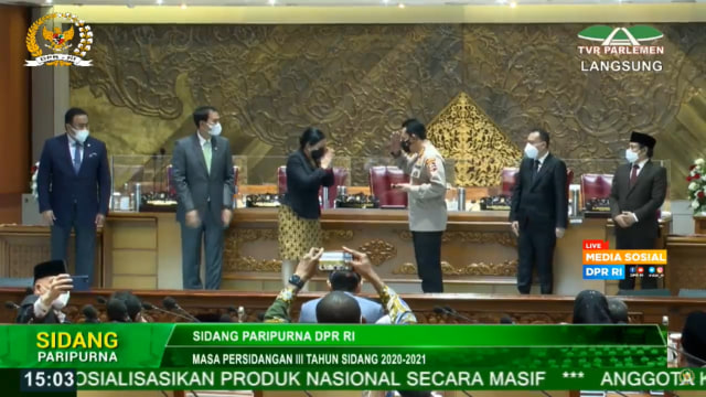DPR Setujui Pemberhentian Jenderal Idham Azis sebagai Kapolri (25597)