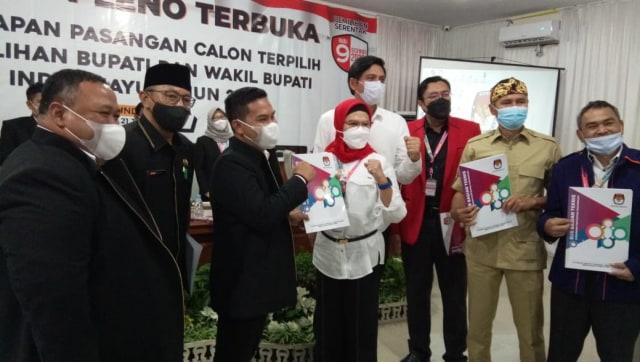 KPU Tetapkan Nina-Lucky Hakim sebagai Bupati dan Wakil Bupati Indramayu Terpilih (299533)