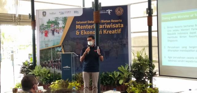 Sandiaga Uno Siap Buka Kunjungan Wisman ke Bintan dengan Travel Bubble (361982)