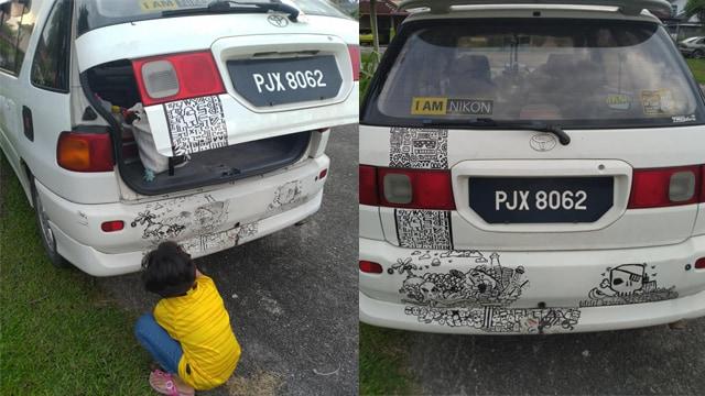 Tak Marah, Orang Tua Ini Malah Beri Dukungan Anaknya yang Hobi Coret-coret Mobil (886447)