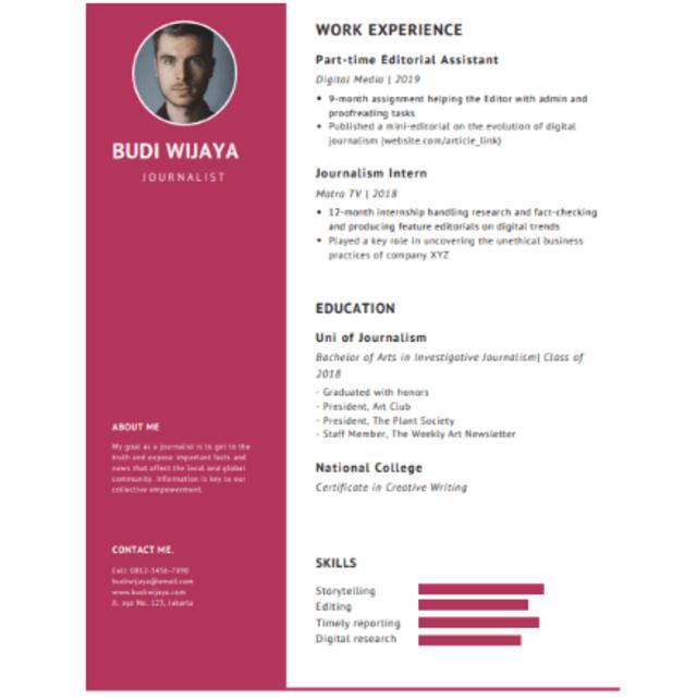 Contoh Resume Kerja yang Bakal Dilirik oleh Perusahaan Incaran (776465)