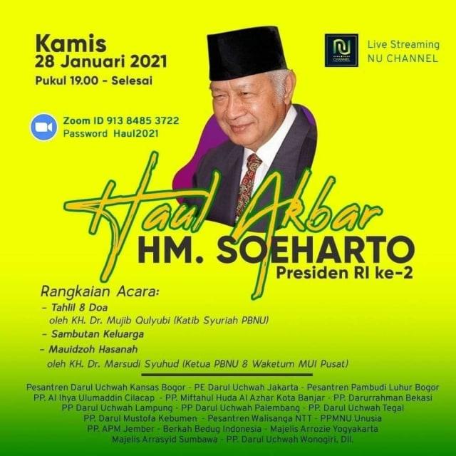 PBNU Bantah Terkait Haul Akbar Mendiang Soeharto (81682)