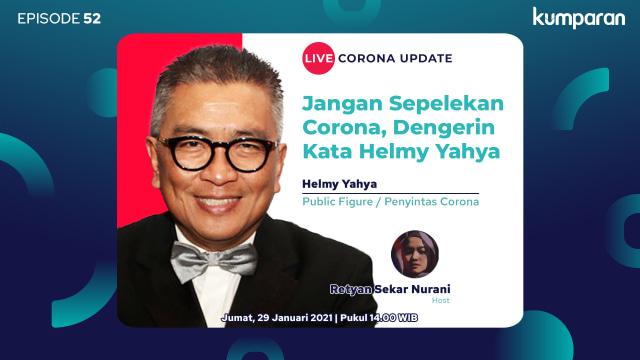 Live Corona Update: Jangan Sepelekan Corona, Dengerin Kata Helmy Yahya (70884)