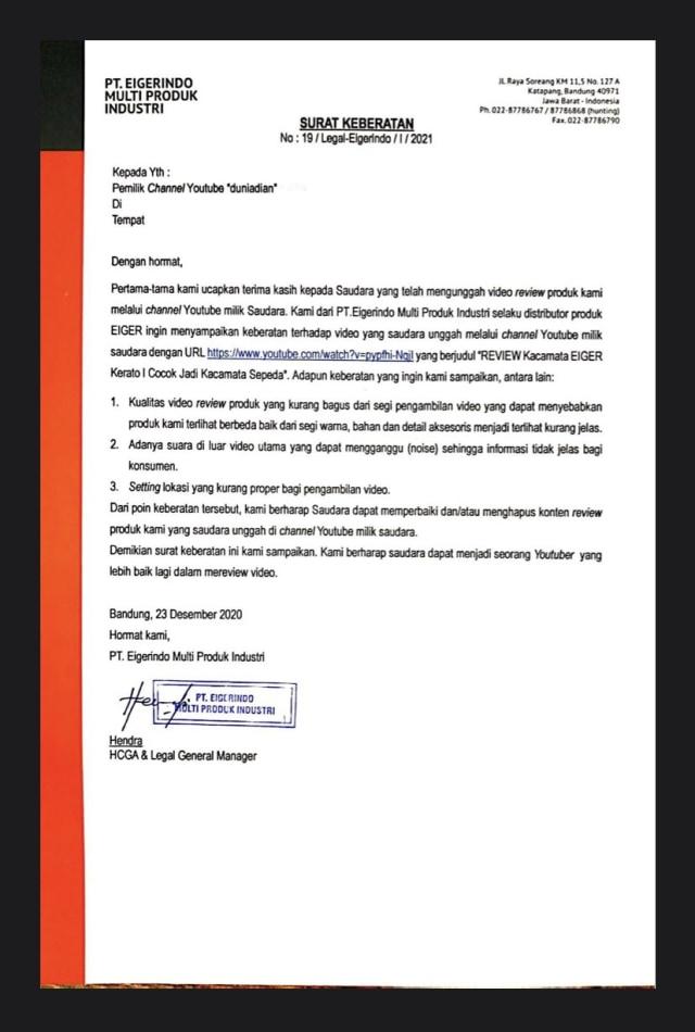 CEO Eiger Ronny Lukito Minta Maaf: Penyampaian Kami Salah (411199)