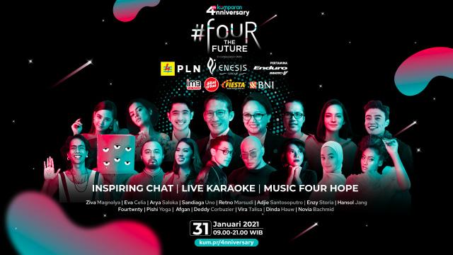 Bertabur Bintang dan Hadiah di Perayaan Ulang Tahun kumparan ke-4 #FourTheFuture (75173)