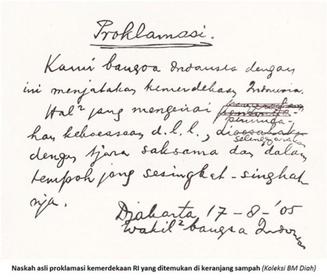 Isi Teks Proklamasi Kemerdekaan dan Detik-detik Perumusannya (7919)