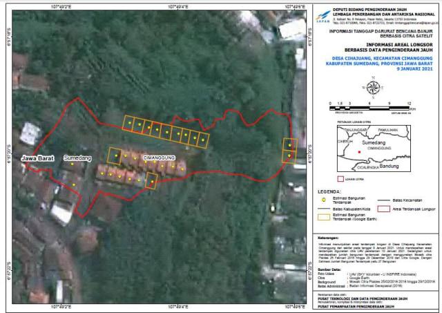 LAPAN Ungkap Lewat Citra Satelit Fenomena di Titik Longsor di Sumedang (30544)