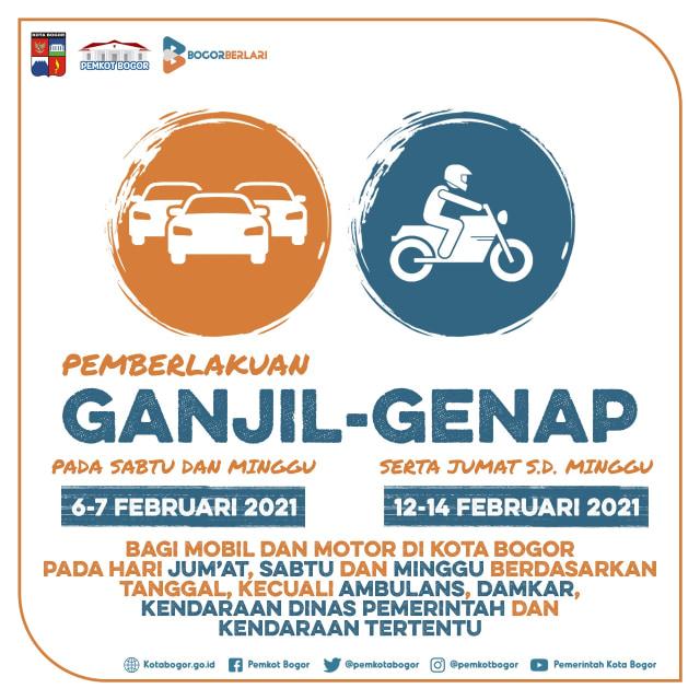 Update Ganjil Genap di Bogor: 5.921 Mobil dan 7.334 Motor Diputarbalikkan (193402)