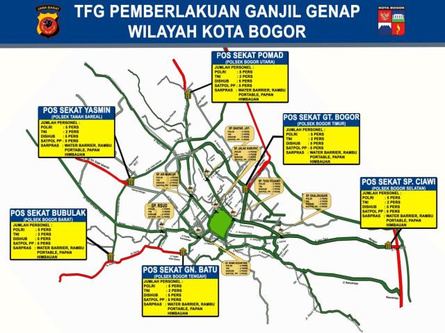 Update Ganjil Genap di Bogor: 5.921 Mobil dan 7.334 Motor Diputarbalikkan (193403)