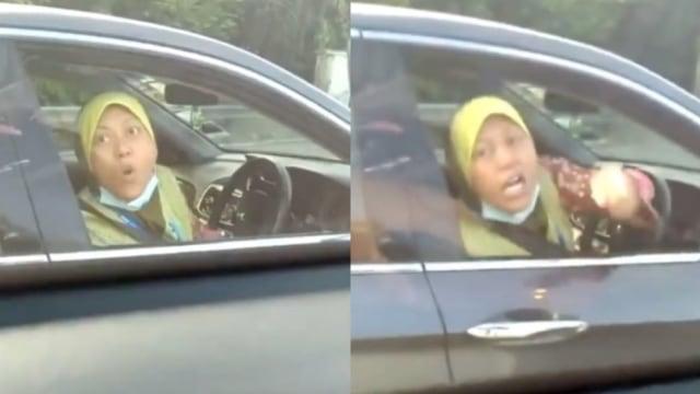 Sumpah Serapah Emak-emak ke Pengendara Mobil Lantaran Kaget Diklakson (400171)