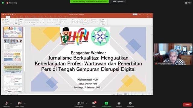 Peringati HPN, Dewan Pers Dorong Peningkatan Kualitas Jurnalisme di Era Pandemi (33503)