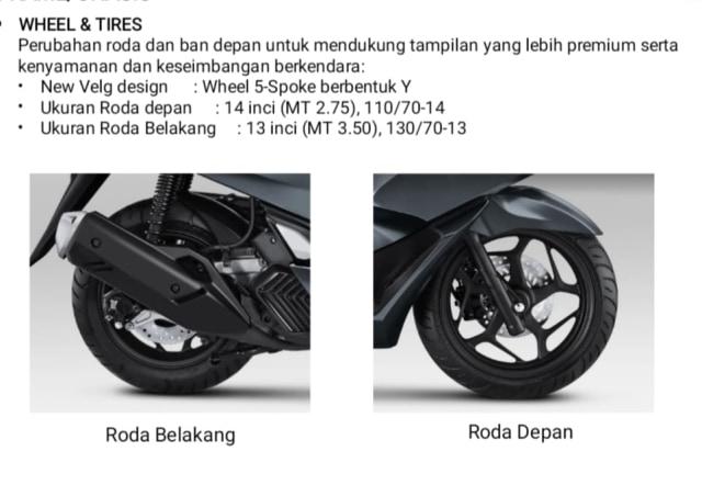 Ukuran Ban Honda PCX 160 Ternyata 'Belang', Apa Tujuannya? (45966)