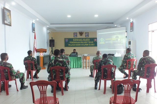 Rekrutmen Prajurit Baru, Kodim 1014/PBN Sosialisasi Kepada Anggota Koramil (284780)