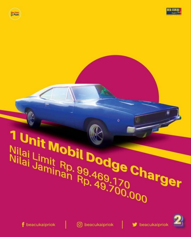 Bea Cukai Tanjung Priok Lelang 2 Mobil Klasik, Ada Dodge Charger! (442581)
