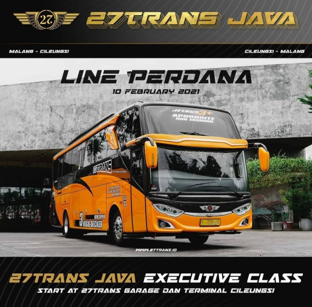 PO 27Trans Tambah Kelas Bus Baru Tujuan Malang, Ini Fasilitas Mewahnya (45259)
