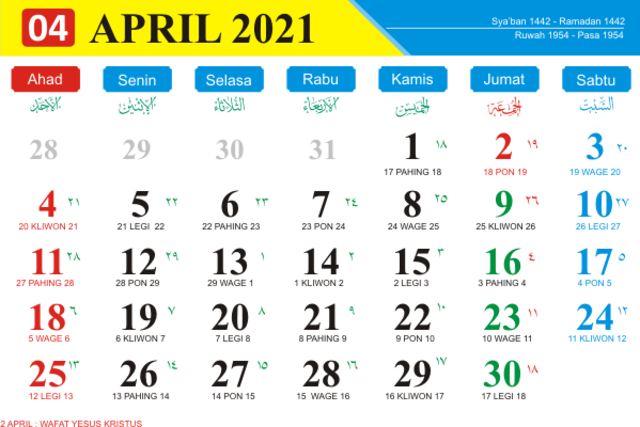 Kalender Jawa 2021 April Dan Hari Buruk Yang Harus Dihindari Kumparan Com