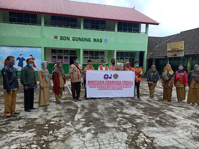 Terima Bantuan dari Kwarcab Kabupaten Lebak, Kwarran Cisarua Langsung Salurkan (75921)
