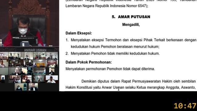 Mahkamah Konstitusi Tolak Gugatan Paslon PAHAM, Andrei-Richard Sah Pimpin Manado (768516)