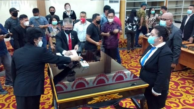 DPRD Kota Manado Gelar Paripurna PAW dari Partai Demokrat  (14060)