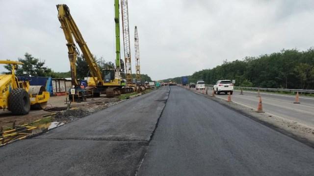 Mulai Malam Ini, Arus Lalin di KM 122 Tol Cipali yang Amblas Tak Lagi Contraflow (82227)