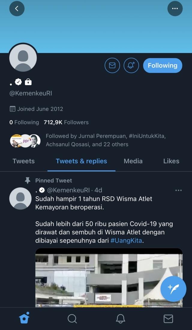 Akun Twitter Kemenkeu Kena Hack, Jangan Klik Link yang Dikirim! (1)