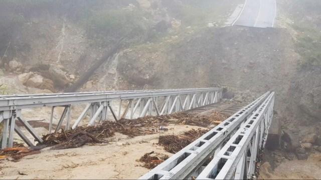 Jembatan Trans Papua di Yalimo Penghubung Antarkabupaten Putus    (85765)