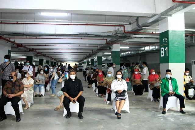 Ribuan Tokoh Agama Ikuti Vaksinasi COVID-19 di Basement Masjid Istiqlal (33262)