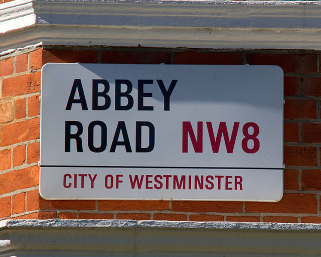 Papan Jalan Abbey Road
