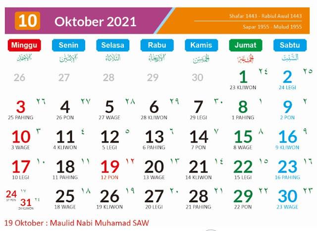 Kalender Jawa Oktober 2021 Dan Hari Yang Harus Dihindari Kumparan Com