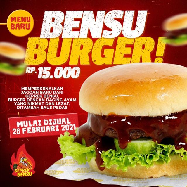 Geprek Bensu Rilis Menu Burger, Penasaran Rasanya? (293480)