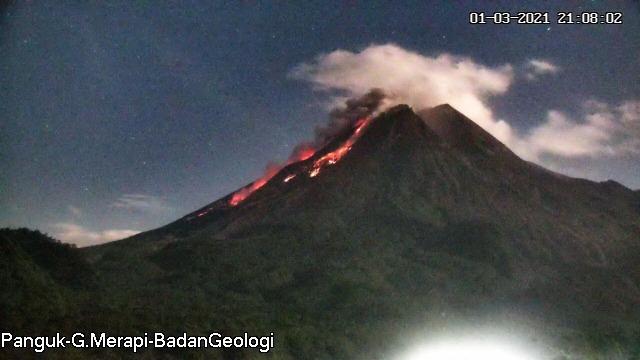 Gunung Merapi Kembali Luncurkan 3 Kali Awan Panas Sejauh 1.900 Meter (189885)