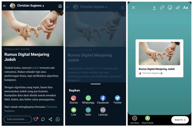 Cara Mudah Share Konten dari kumparan ke Instagram Stories (60963)
