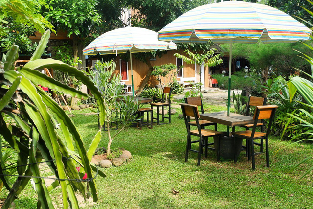 Merasakan Nongkrong dengan Konsep Garden Cafe di NL Coffee, Bandar Lampung (104209)