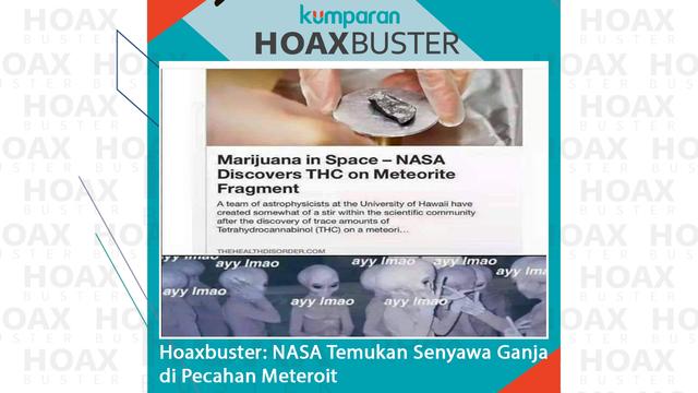 Hoaxbuster: NASA Temukan Senyawa Ganja di Pecahan Meteorit (241721)
