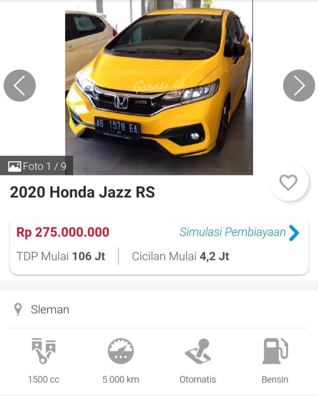Disuntik Mati, Harga Honda Jazz Bekas Terjun Bebas? (942741)
