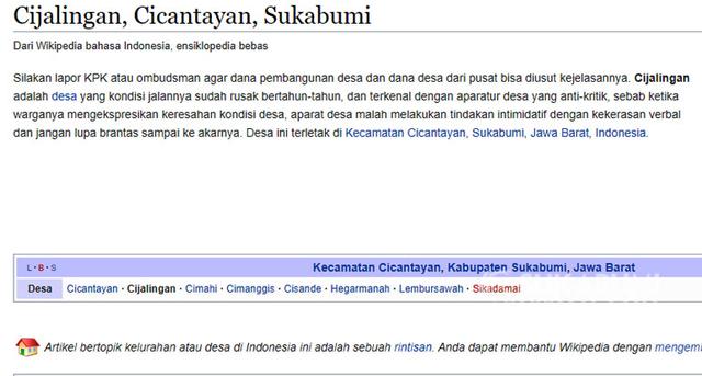 Netizen Bergerak: Ubah Wikipedia Usai Guru Pengunggah Jalan Rusak Dipersekusi (291204)