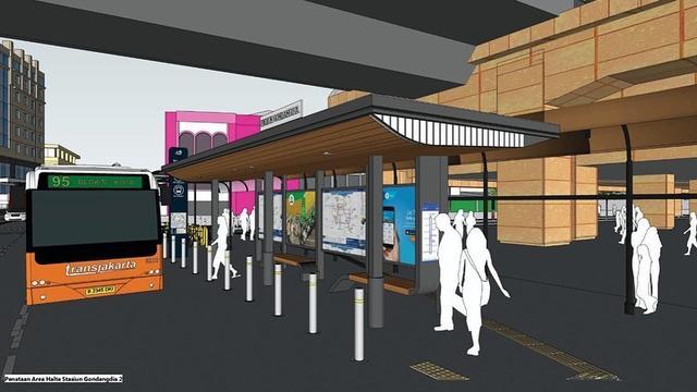 Intip Desain Kece Stasiun Gondangdia: Halte Terintegrasi, UMKM, Taman Cut Meutia (372866)