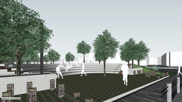 Intip Desain Kece Stasiun Gondangdia: Halte Terintegrasi, UMKM, Taman Cut Meutia (372873)