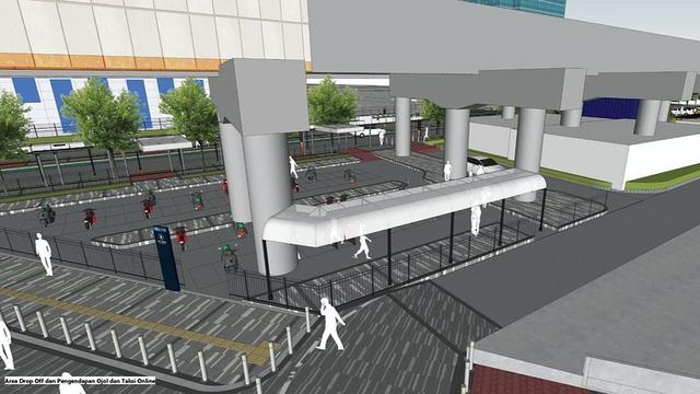 Intip Desain Kece Stasiun Gondangdia: Halte Terintegrasi, UMKM, Taman Cut Meutia (372865)