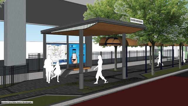 Intip Desain Kece Stasiun Gondangdia: Halte Terintegrasi, UMKM, Taman Cut Meutia (372870)