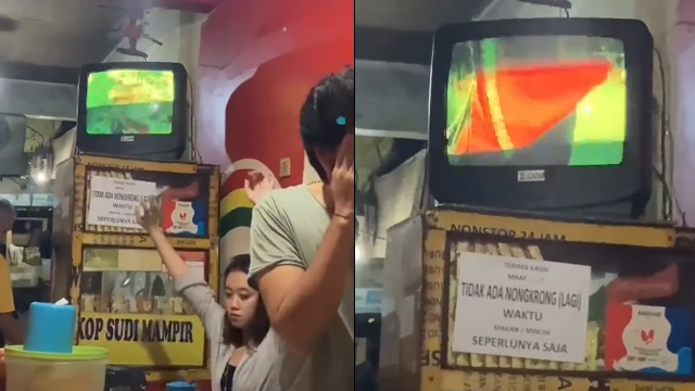 Viral, Warkop Ini Kenakan Tarif Rp2000 Jika Nonton TV Meskipun Tak Sengaja  (497415)