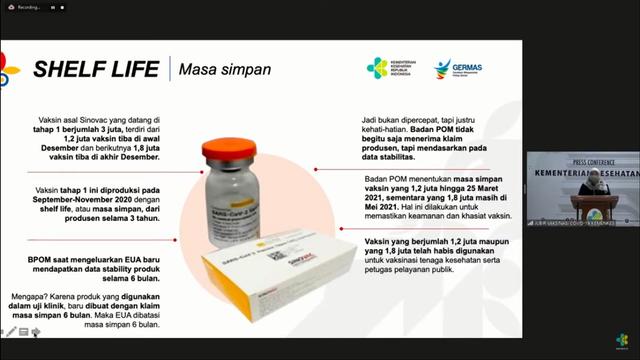 Cara Bedakan Vaksin Sinovac Habis Masa Simpan 25 Maret dengan Buatan Bio Farma (92894)